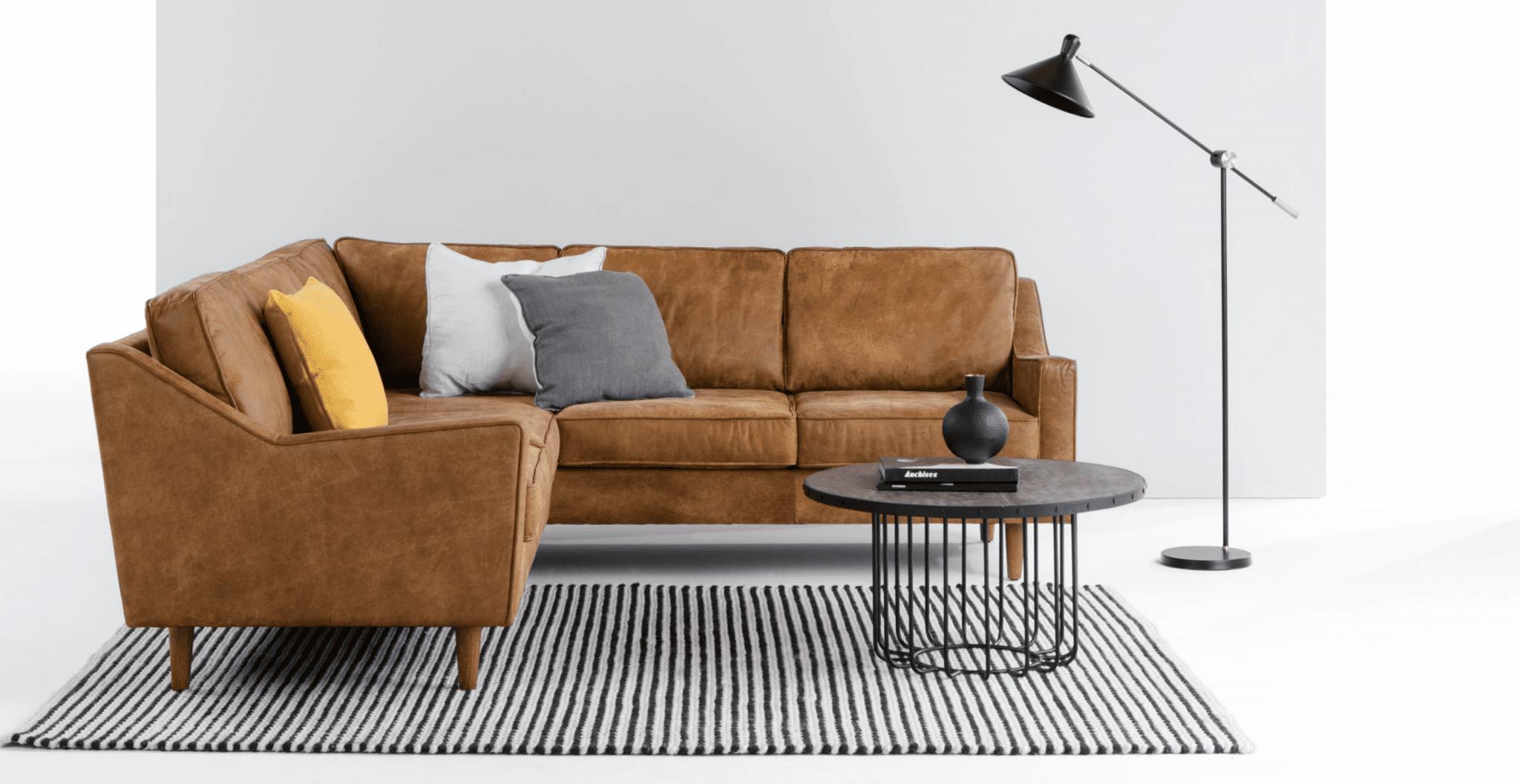 canapé grand en cuir