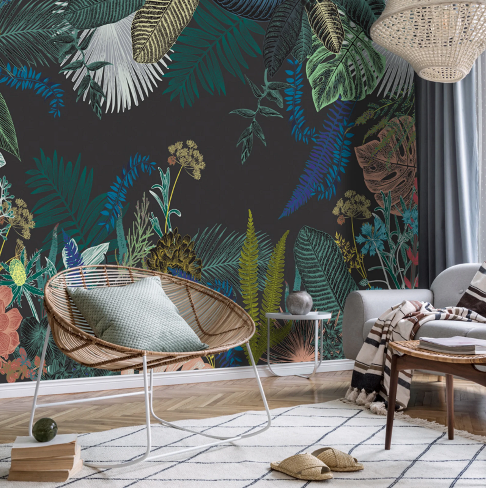 papier peint à motif jungle