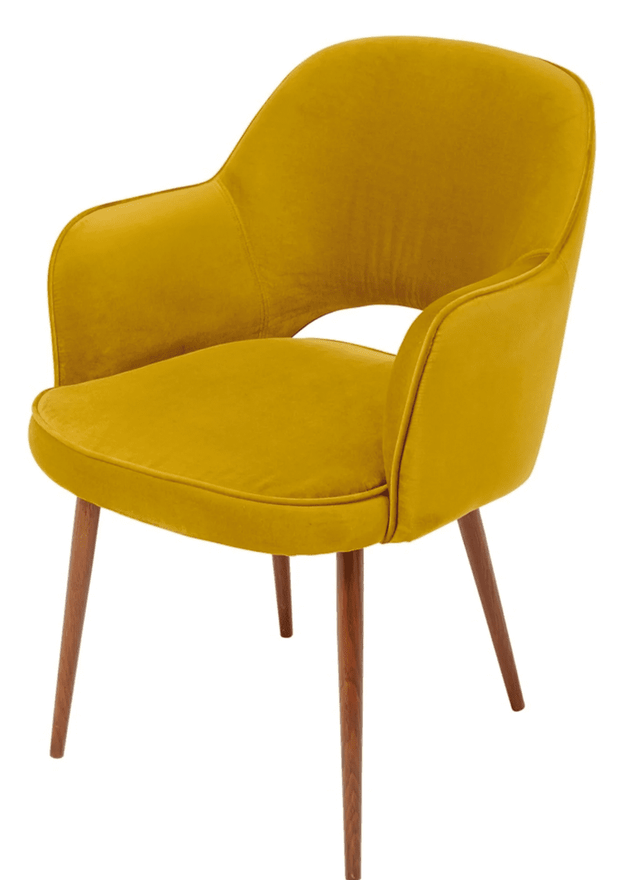 chaise retro jaune