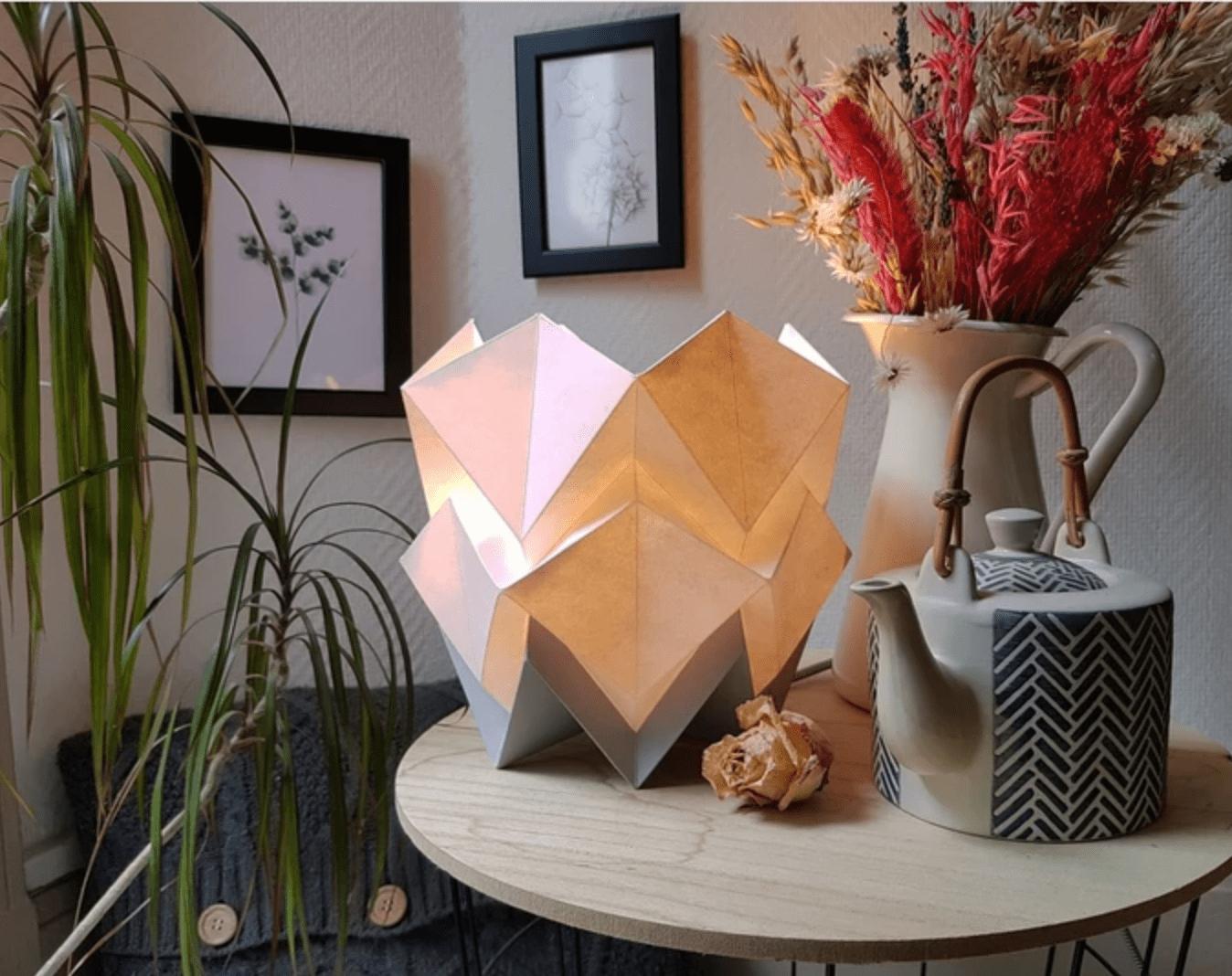 lampe papier origami